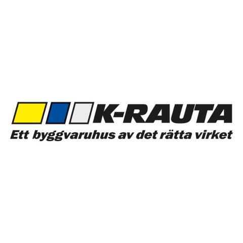 K-rauta - Ett byggvaruhus av det rätta virket (logga)
