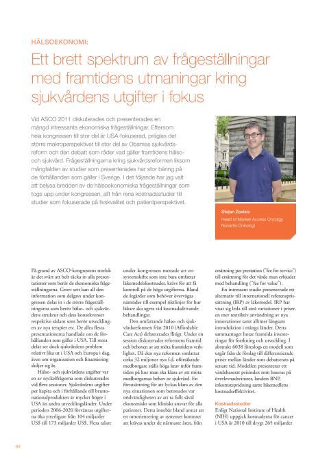 Stojan Zavisic: Sjukvårdens utgifter – en framtida utmaning