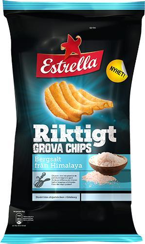 Estrella Riktigt Grova chips Bergssalt från Himalaya