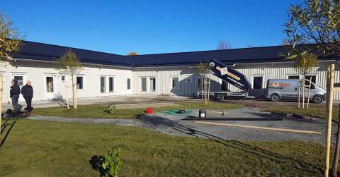 Bygget av ny förskola i Myrviken tuffar på