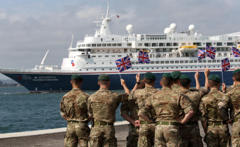 Fred. Olsen Cruise Lines' 'Boudicca' pays tribute to 250 courageous D-Day veterans, on The Royal British Legion's historic 'D-Day 75 Voyage of Remembrance'