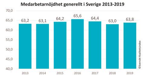 SKI medarbetarnöjdhet 2013-2019