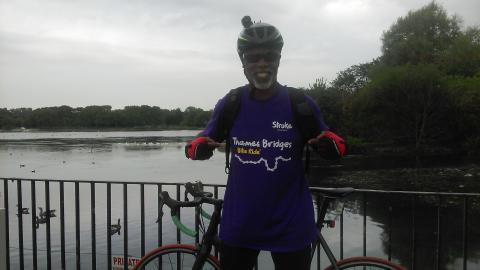 Woolwich stroke survivor set to tackle Thames Bridges Bike Ride