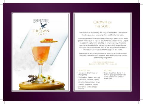 Beefeater Crown Jewel cocktailoppskrifter