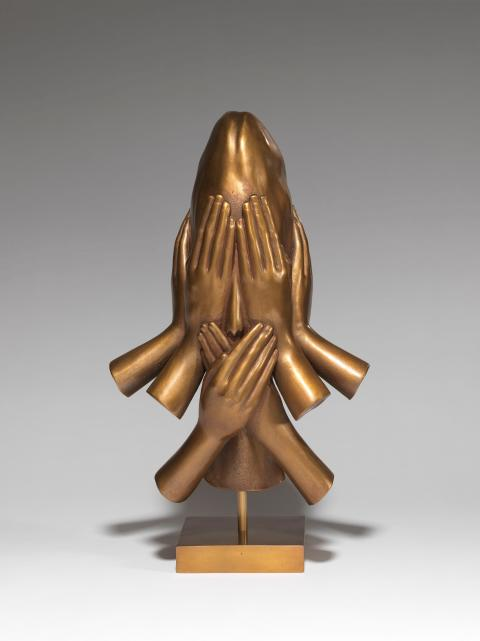 Jaume Plensa, Who are you? - VIII, 2016, bronze, 37 x 11 x 17 cm, ed.8