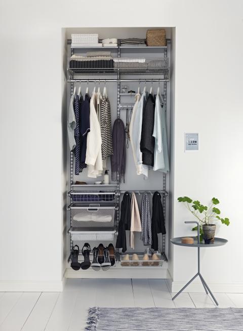 Optimér hver en millimeter med en stor lille garderobe.