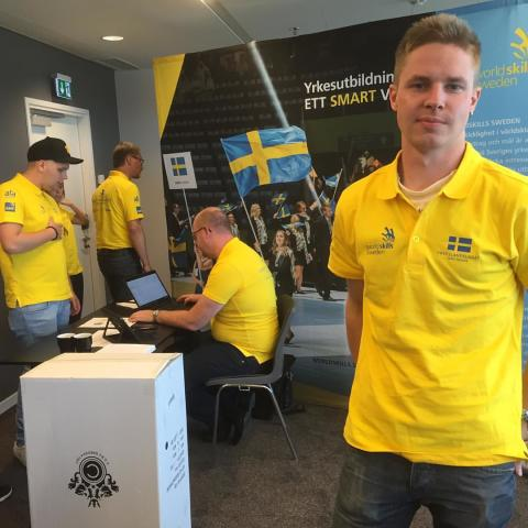 Plåtslagaren Rickard ska kämpa om EM-medaljerna i Göteborg i december