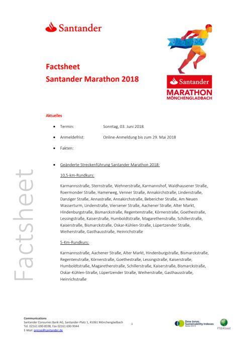 Factsheet Santander Marathon 2018
