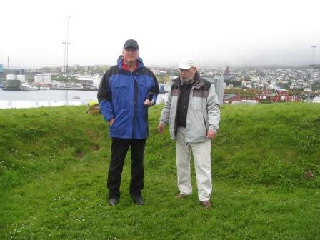 Jürgen Ortmüller/WDSF (lks.) und Andreas Morlok/ProWal in Tórshavn/Färöer 2010