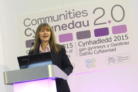 Communities 2.0 Project Director Cathryn Marcus opens the Celebration of Achievement Awards