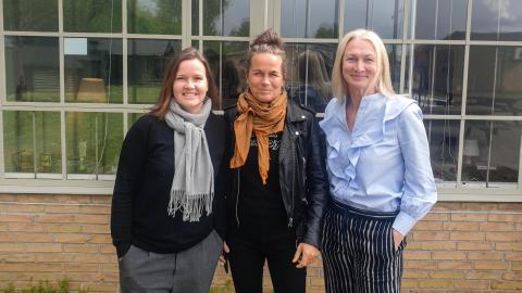 Fra venstre: Louise Vesth, Karoline Leth og Sisse Graum Jørgensen