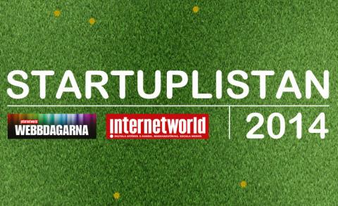 9 STING-bolag på Internetworlds Startuplista 2014