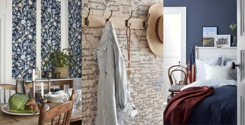 En bit av New England på väggarna i hela världen - Boråstapeter lanserar tapetkollektion med Lexington Company
