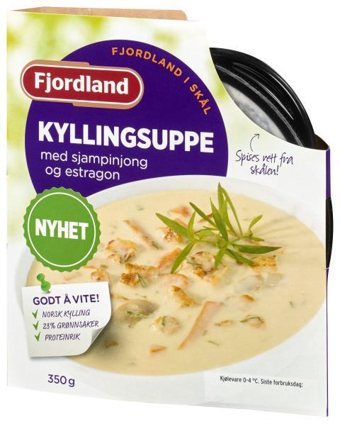Fjordland i Skål: Kyllingsuppe med sjampinjong og estragon