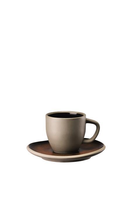 R_Junto_Shiny_bronze_Espressotasse_cup_and_saucer