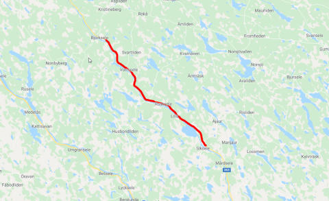 Väg 363 Björksele och Sikseleberg, Västerbotten