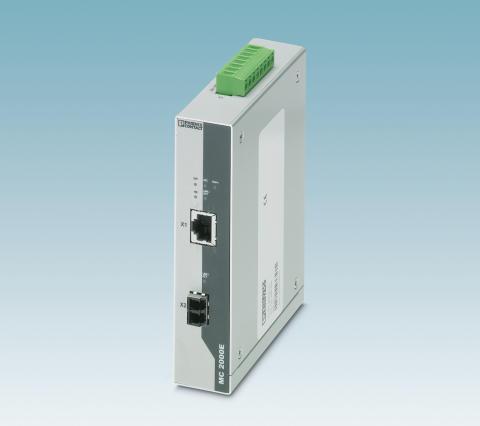 Ethernet till fiber enligt IEC 61850