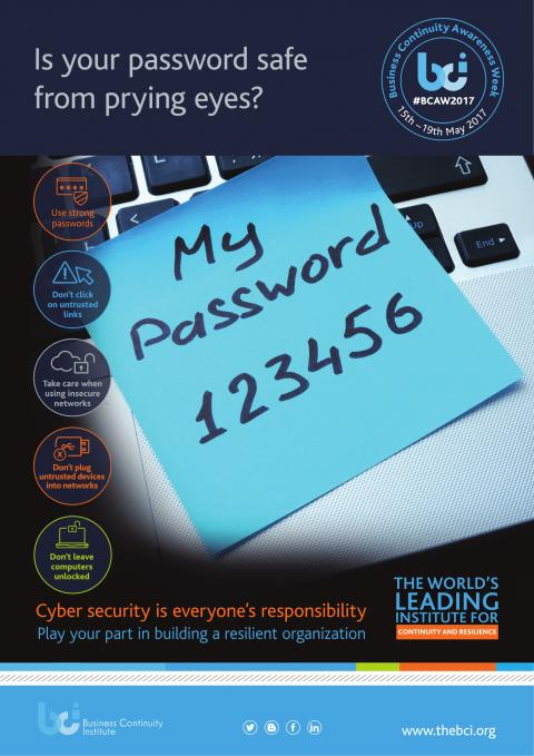 BCAW poster - safe passwords
