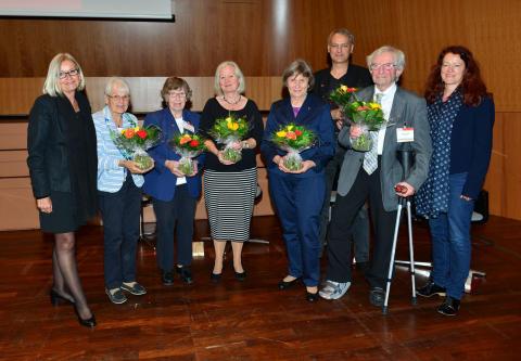 Ehrung von Ehrenamtlichen im Rahmn des 9. Kongresses der Deutschen Alzheimer Gesellschaft am 1.10.2016 in Saarbrücken