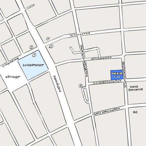 Karta IKEAs kökspop-up