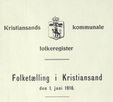 Tema: «Kristiansands befolkning»