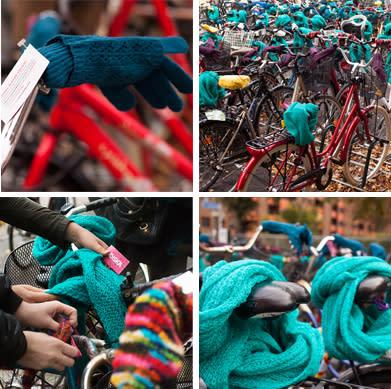 Stickad värme till cyklar och cyklister