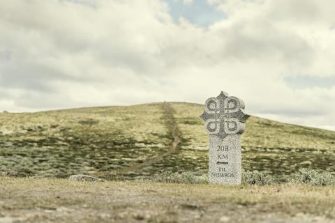 Die St.Olavs-Wege führen zum Nidarosdom in Trondheim