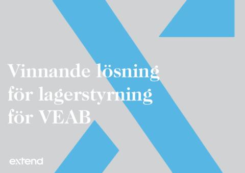 Ny, vinnande lösning för lagerstyrning för VEAB
