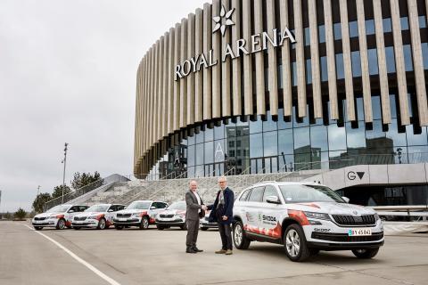 ŠKODA sponserer VM i ishockey med 50 biler