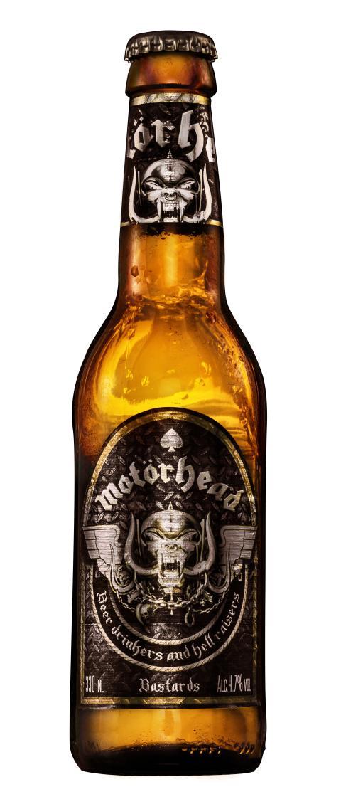 Motörheads Bastards Lager öl nu i matvarubutikerna i Finland