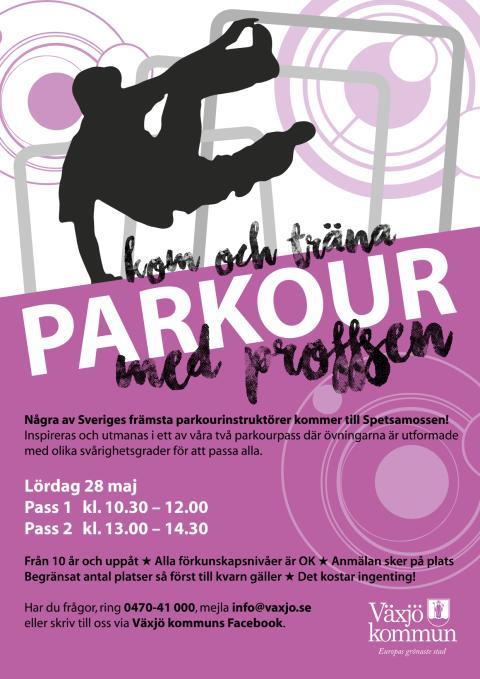 Affisch: Parkourdag 28 maj
