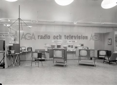 Radio- och TV-apparater från AGA.