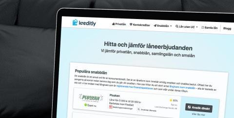 Ny jämförelsesajt för den svenska lånemarknaden