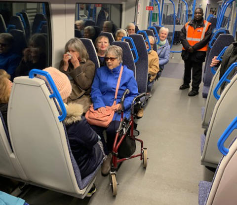 Station team welcomes group to make rail service more accessible