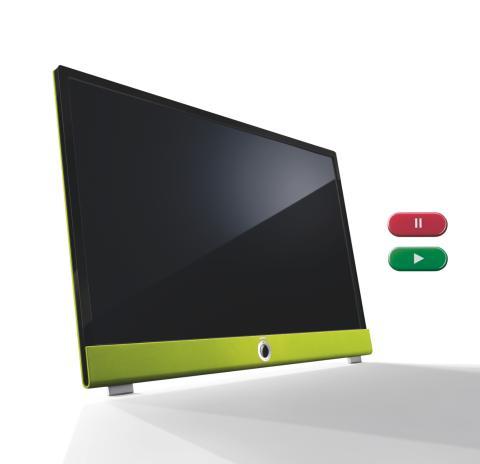 Nyd sommeren ude, uden at gå glip af dine yndlingsudsendelser - med et Loewe DR+ TV med indbygget harddisk.