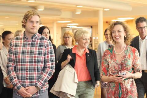 Ministern för högre utbildning och forskning besökte Sophiahemmet Högskola den 3 maj