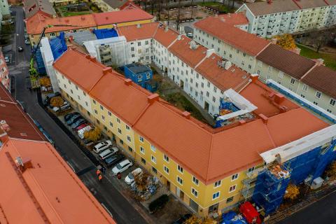 Flygvy, kvarteret Skäpan
