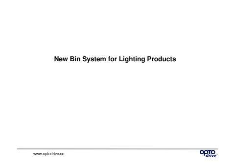 Förbättrade Färgkoordinater för Optodrive LED Moduler