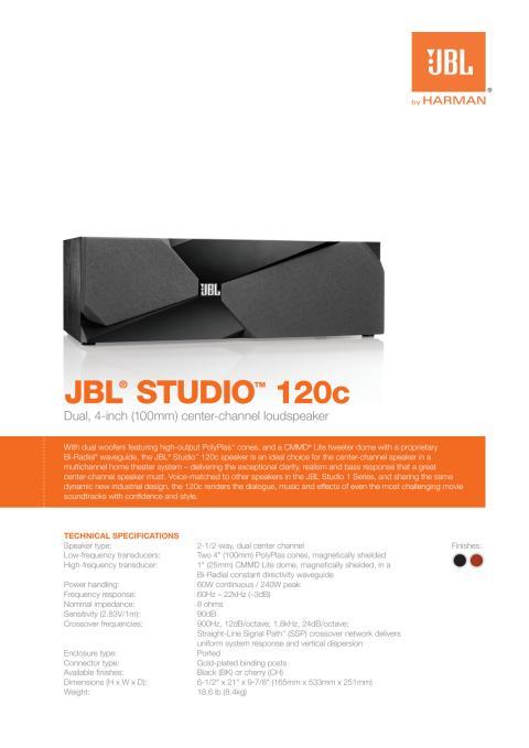 Specification sheet - JBL 120 (English)