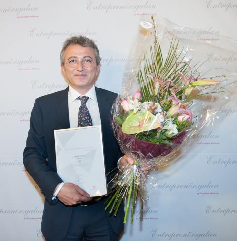 Greg Dingizian tilldelades utmärkelsen Årets Förebildsentreprenör igår på Entreprenörsgalan Syd