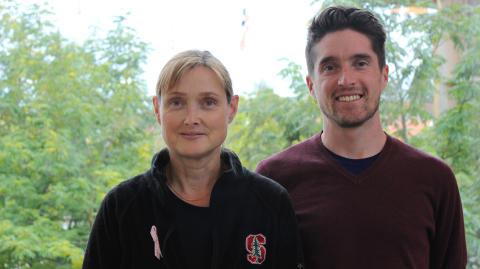 Katarina Bälter (MDH) och Ben Chrisinger (Stanford University)