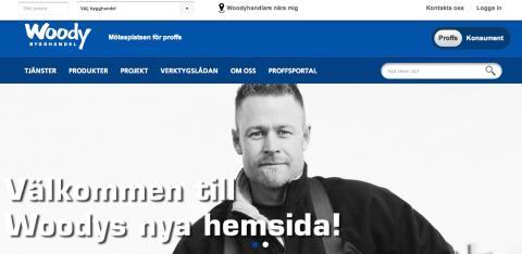 Woody Bygghandel lanserar en ny hemsida, utvecklad av Stratiteq med flera