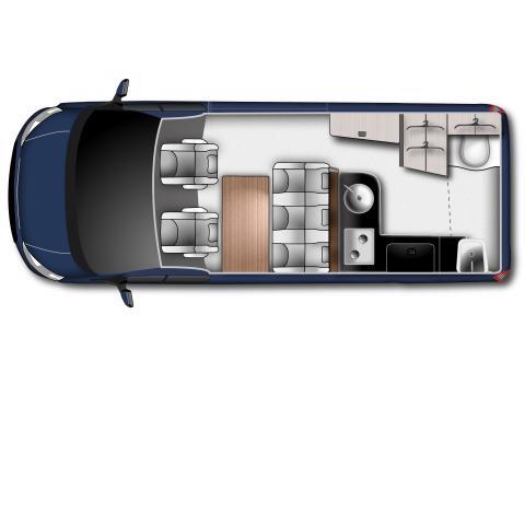 Ford Transit Custom Nugget Plus_Grundriss