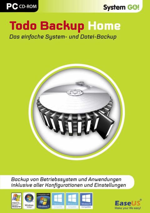 Backups von Dateien, Partitionen und Systemen - System GO! Todo Backup Home
