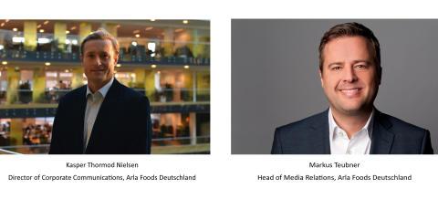 Arla Deutschland ernennt neuen Kommunikationsdirektor und stellt Head of Media Relations ein