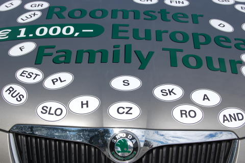 Skoda Roomster genom Europa