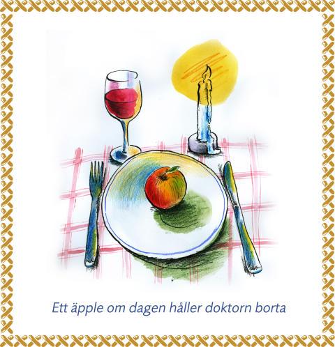 Pressbild antibiotikakampanj 65+ äpple