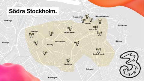 Sveriges första publika 5G-nät finns runt Globen och Enskede.
