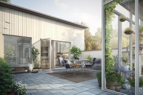 Första spadtaget för nya bostäder Hestra Parkstad