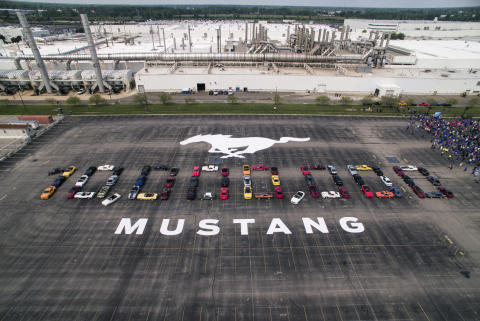 10 millioner Ford Mustangs produceret